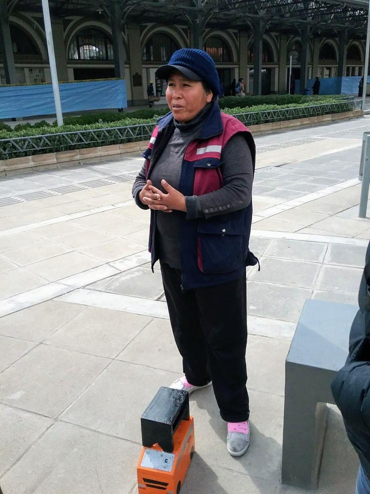 Bolivian shoe shine
