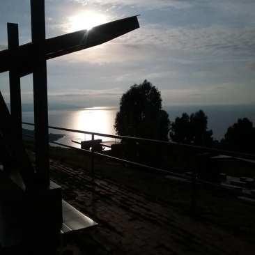 Sunrise and Lake Titicaca